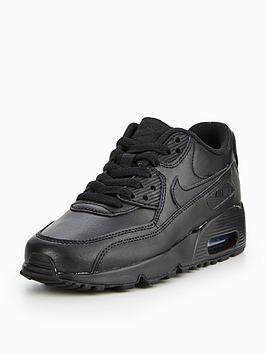 air max 90 leather noir junior