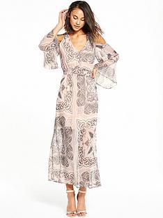 river-island-river-island-printed-cold-shoulder-maxi-dress