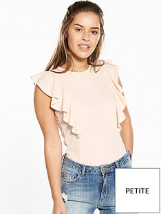 v-by-very-petite-ruffle-detail-bodysuit-blush