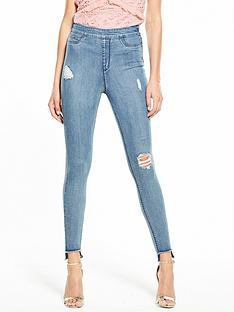 v-by-very-short-charley-highwaist-slash-knee-side-zip-jegging