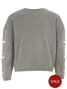 river-island-girls-grey-marl-pearl-split-sleeve-sweatshirt