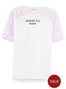 river-island-girls-white-lsquosequins-all-nightrsquo-t-shirt