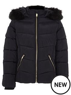 river-island-girls-navy-padded-fur-trim-hood-padded-jacket