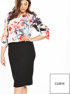 v-by-very-curve-printed-tie-double-layer-dress
