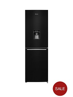 hisense-rb381n4wb1-60cm-wide-frost-free-fridge-freezer-with-water-dispenser-black