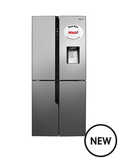 hisense-rq560n4wc1-79cm-wide-american-style-multi-door-fridge-freezer-with-water-dispenser-stainless-steel-look