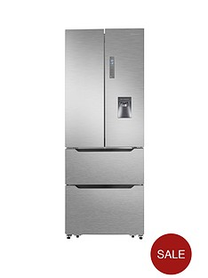 hisense-rf528n4wc1-70cm-wide-frost-free-french-door-style-fridge-freezer-with-water-dispenser-stainless-steel-look