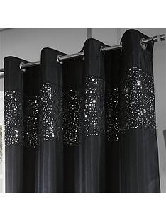Catherine Lansfield Glitzy Sequin Eyelet Curtain 90x90