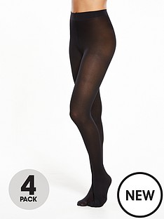 pretty-polly-4-pack-40-denier-opaque-tights-black