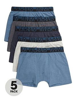 river-island-5-pack-blue-trunks