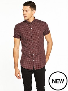 river-island-short-sleeve-ditsy-print-shirt