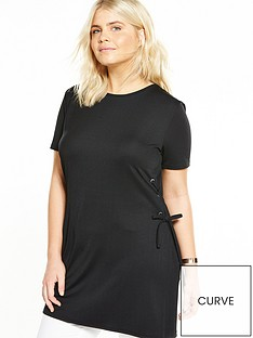v-by-very-curve-eyelet-side-tunic-black