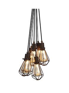 7-light-cluster-caged-pendant-light