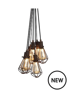7-light-cluster-caged-pendant-light