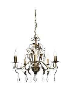antique-brass-5-light-leaf-chandelier