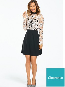 myleene-klass-lace-top-skater-dress