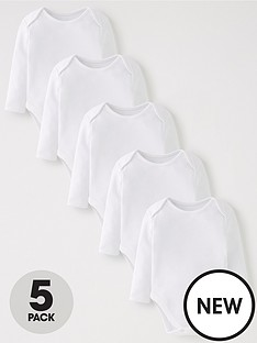 mini-v-by-very-baby-unisex-5pk-white-bodysuits