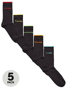 v-by-very-5-pk-days-of-the-week-socks-black
