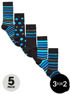 v-by-very-5-pk-spot-amp-stripe-socks-multi