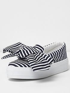 river-island-dolce-bow-stripe-plimsoll