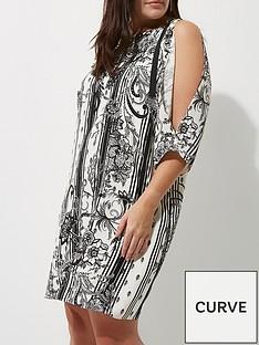 river-island-ri-plus-split-sleeve-printed-dress
