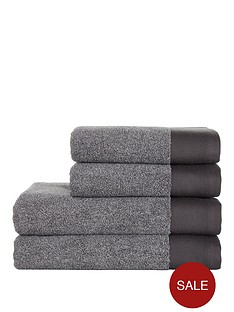 ideal-home-grey-marl-550gsm-4-piece-towel-bale
