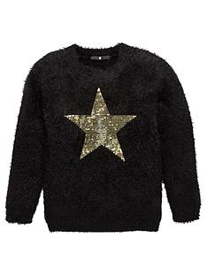 v-by-very-girls-eyelash-knit-fluffy-sequin-jumper