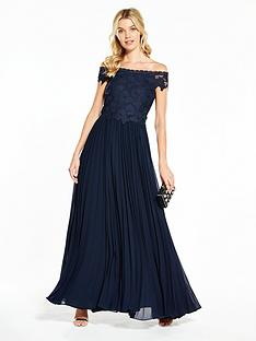v-by-very-bridesmaid-pleated-bardot-maxi-dress-navy