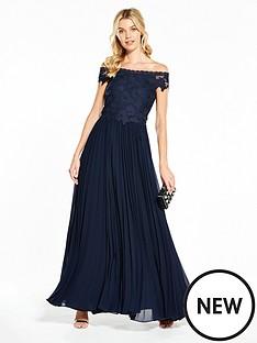 v-by-very-bridesmaid-pleated-bardot-maxi-dress-navy
