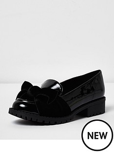 river-island-loafer-bow-patent-cleated
