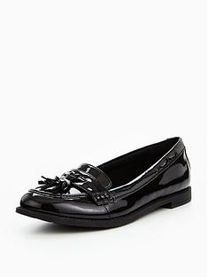 8ac9fa5261b Clarks Preppy Edge Junior Shoes - Black Patent
