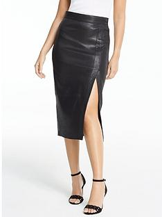 michelle-keegan-premium-stretch-leather-midi-skirt