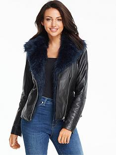 michelle-keegan-faux-fur-collar-premium-leather-jacket