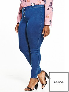 lost-ink-curve-marjoram-button-front-jeggingnbsp--mid-denim