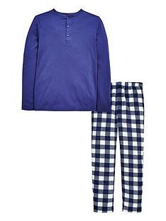 v-by-very-check-fleece-pyjamas