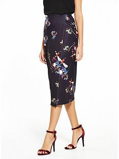 lost-ink-floral-print-wrap-pencil-skirt