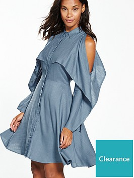 lost-ink-split-sleeve-shirt-dress
