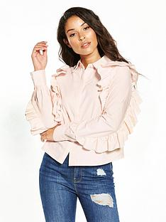 lost-ink-frill-sleeve-shirt-pink