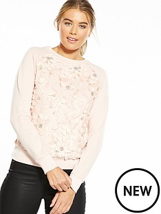 lost-ink-floral-embroidered-sweat-top-blush