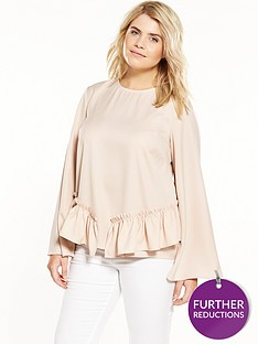 lost-ink-curve-top-with-ruffle-hem