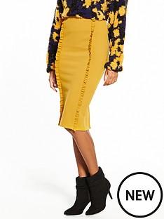 lost-ink-frill-detail-pencil-skirt-mustard