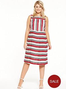 lost-ink-curve-pleated-hem-dress-in-stripe
