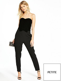 v-by-very-petite-velvet-bow-detail-jumpsuit