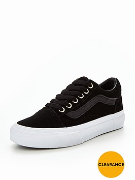 black vans old skool junior