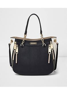 river-island-chain-scoop-zip-tote