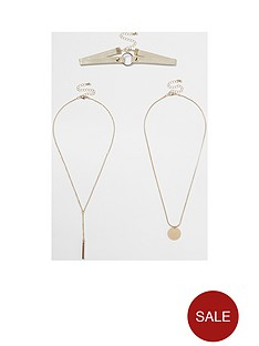 river-island-layered-circle-choker