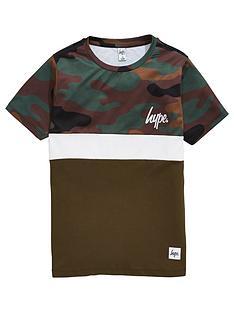hype-boys-camo-panel-khaki-t-shirt