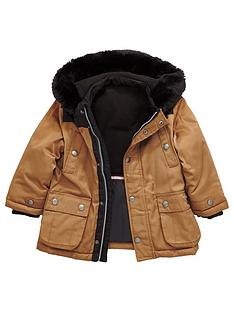 mini-v-by-very-boys-contrast-coat-with-faux-fur-trim-hood