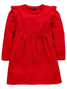mini-v-by-very-girls-sparkle-frill-knitted-dress