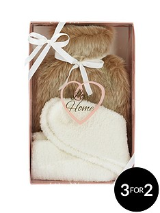 love-home-love-home-faux-fur-hot-water-bottle-amp-sock-set
